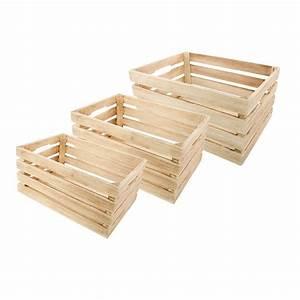 Cagette En Bois : cagette bois naturel 42x30x20cm ~ Teatrodelosmanantiales.com Idées de Décoration