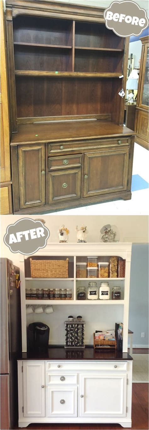 painting the kitchen cabinets best 25 hutch makeover ideas on painted hutch 4065
