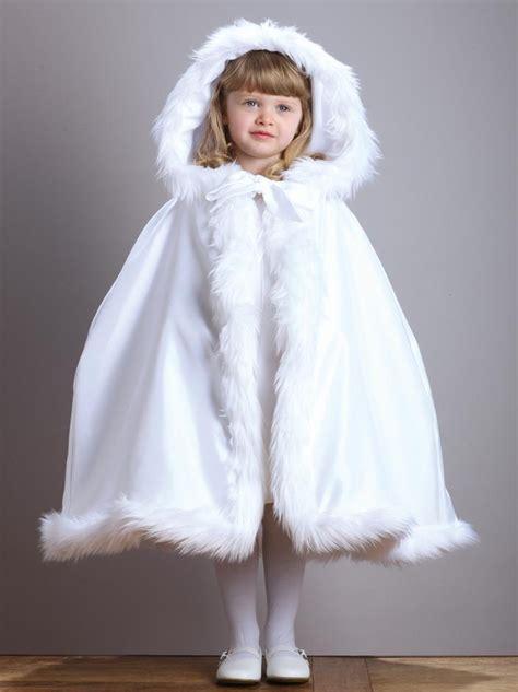 winter white  girls cloak wedding party