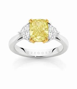 cushion cut fancy yellow diamond engagement ring rings With yellow diamond wedding ring