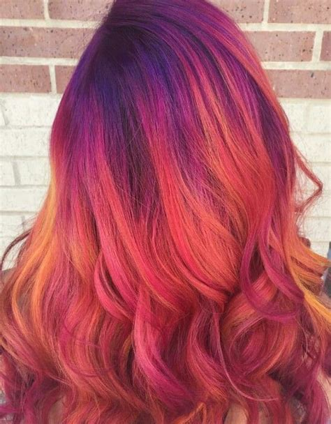 Love This Mix Of Colors Dyedhair Hairdye Colorful Hair