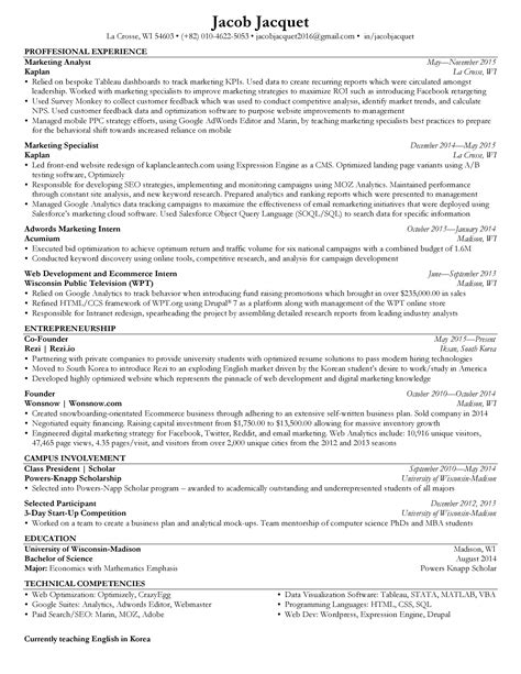 resume graduate school admission create an effective