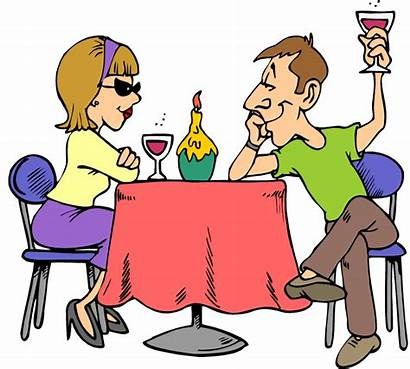 Clipart Dining Date Dinner Night Marriage Fun