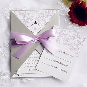 best collection of wedding invitations with ribbon With how to assemble wedding invitations with ribbon