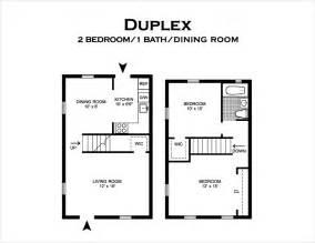 Bedroom Duplex Floor Plans by Floor Plans