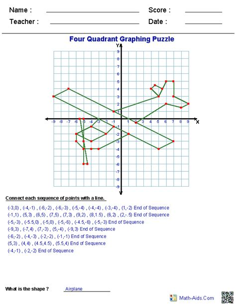math aids graphing worksheets plus more math math