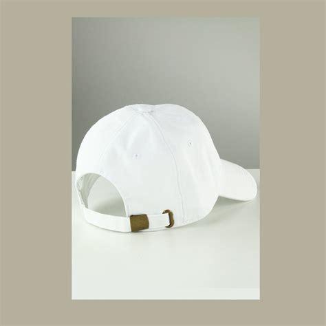 jual beli baseball cap polos topi polos putih ikatan