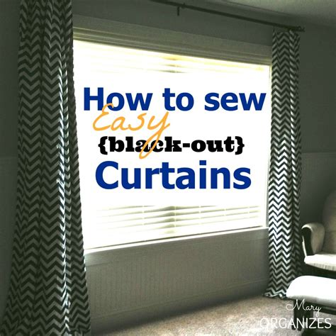 how to sew easy black out curtains