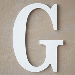 wood block letter painted white 8in g the lucky clover With white wooden block letters