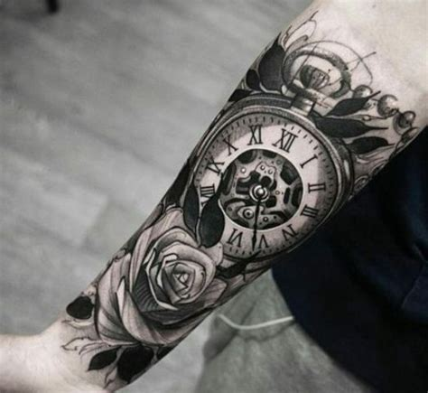 gorgeous clock tattoo ideas  men styleoholic