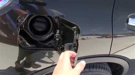 open  fuel door    nissan rogue sl youtube