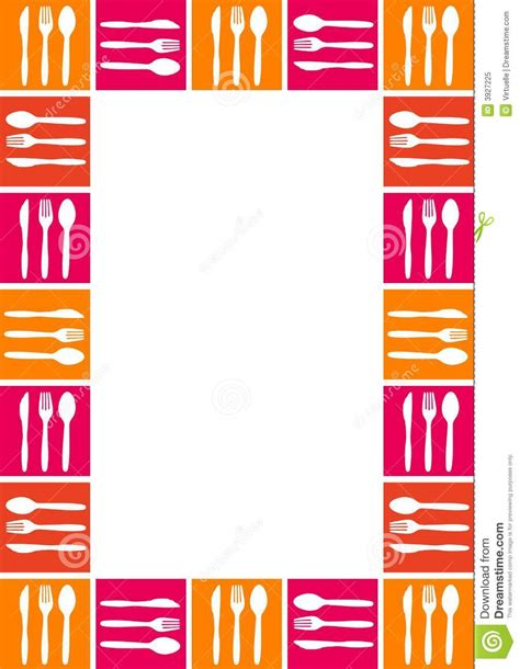 kitchen forks and knives frame with spoon knife and fork stock vector