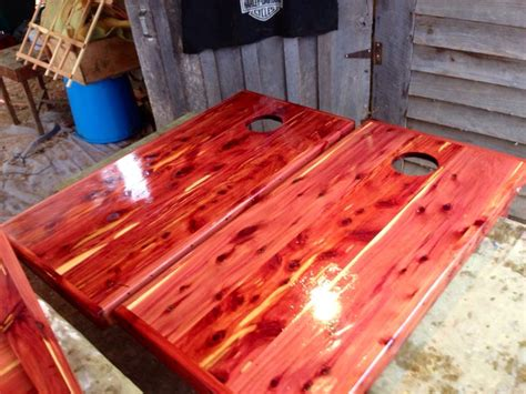 red cedar boards  cornhole boards cedar boards