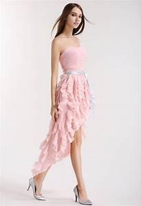 robe de cocktail asymetrique rose poudre With rose poudré robe