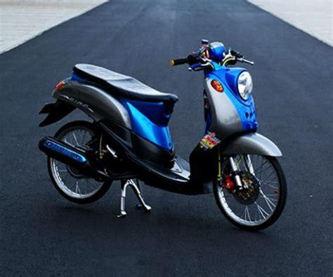 modifikasi yamaha fino simple dan sederhana desain yamaha scooter custom motorbike