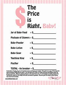 8 best images of price is right baby shower free for Free printable price is right baby shower game template