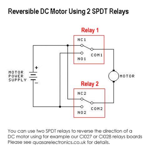 dc motor reversing circuit timer or remote quasar electronics