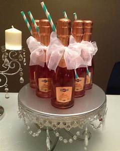 mini rose champagne party favors juliana dez events With champagne bottle favors for weddings