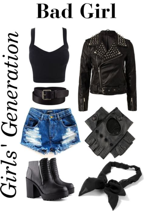 Outfit inspired by SNSDu2019s u201cBad Girlu201d MV. Link... | She wears kpop.
