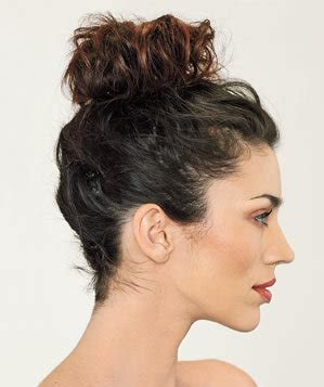 high hair bun styles 5 easy hairstyles for a bad hair day real simple 4396