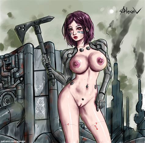 Battle Angel Alita Nude By Alexeyv Hentai Foundry