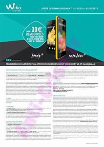 Offre De Remboursement : offre de remboursement odr wiko 30 sur smartphone ~ Carolinahurricanesstore.com Idées de Décoration