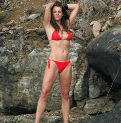 wedding shoes daily liz hurley stunning at 50 as she shows bod in a