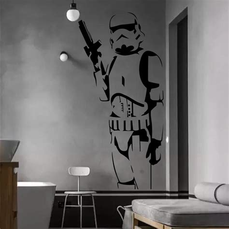sticker chambre ado wars clone soldier wall sticker