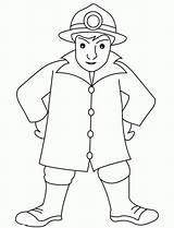 Coloring Fireman Pages Fire Fighter Firefighter Clip Library Clipart sketch template