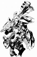 Halo Ink Variant Characters Brush Inks Bombshellter Step sketch template