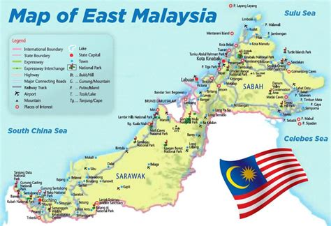 east malaysia map map  east malaysia south eastern
