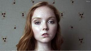 Lily Cole Modeling Pose Face Photoshoot Wallpaper