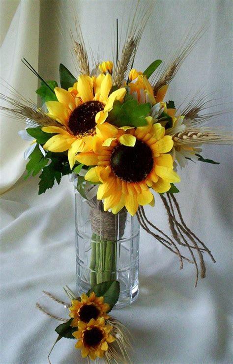 sunflower bridal bouquets ideas  pinterest