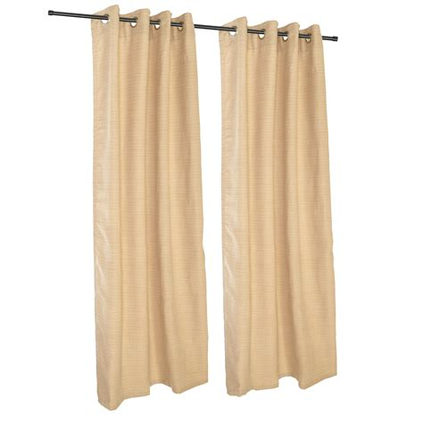 dupione bamboo grommet sunbrella outdoor curtains