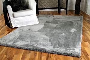Teppich Langflor Grau : luxus shaggy hochflorteppich silky soft grau teppiche hochflor langflor teppiche schwarz grau ~ Orissabook.com Haus und Dekorationen