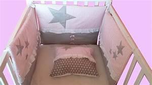 Tour De Lit Gris : fr tour de lit bebe rose et gris b b pinterest ~ Teatrodelosmanantiales.com Idées de Décoration