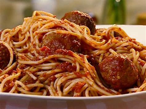 spaghetti  turkey meatballs recipe  neelys food