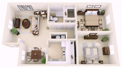 2 Bedroom Small Apartment Design by 2 Bedroom House Design Pictures