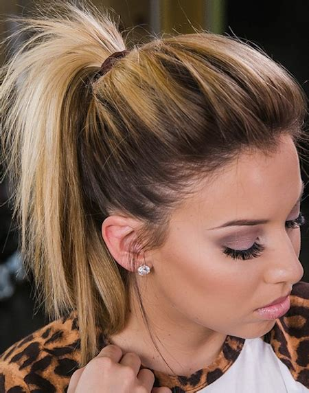 short ponytails cute hairstyle is a messy undone