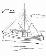 Boat Coloring Fishing Fish Bestappsforkids sketch template