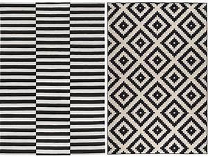 Tapis Scandinave Pas Cher : tapis noir et blanc cuisine naturelle ~ Teatrodelosmanantiales.com Idées de Décoration
