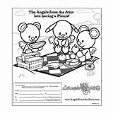 Attic Draw Picnic Picnics Coloring Pages Angels Send Having Rock sketch template