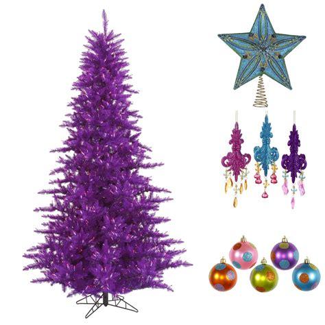 decorate  purple christmas tree northpoledecor