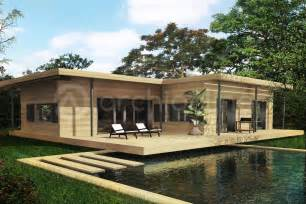 plan de maison bois 3 chambres archionline