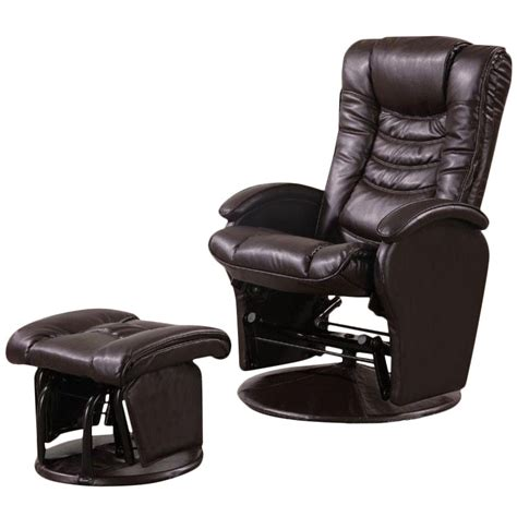 faux leather glider recliner with ottoman coaster faux leather glider recliner chair with ottoman in