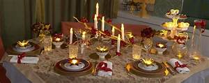 Table De Noel Traditionnelle : id e d co table de noel rouge et or bougie de no l ~ Melissatoandfro.com Idées de Décoration