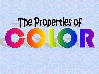 Properties Colors Saturation Hue Brightness