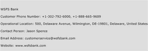 us bank customer service phone number wsfs bank customer service number toll free phone number