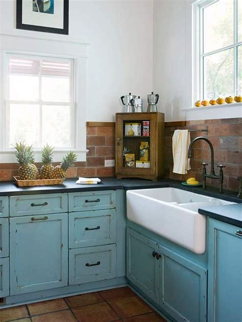 small cottage kitchen designs kitchen brick backsplashes for warm and inviting cooking 5372