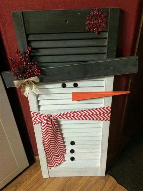 snowman shutter door crafts xmas crafts christmas crafts